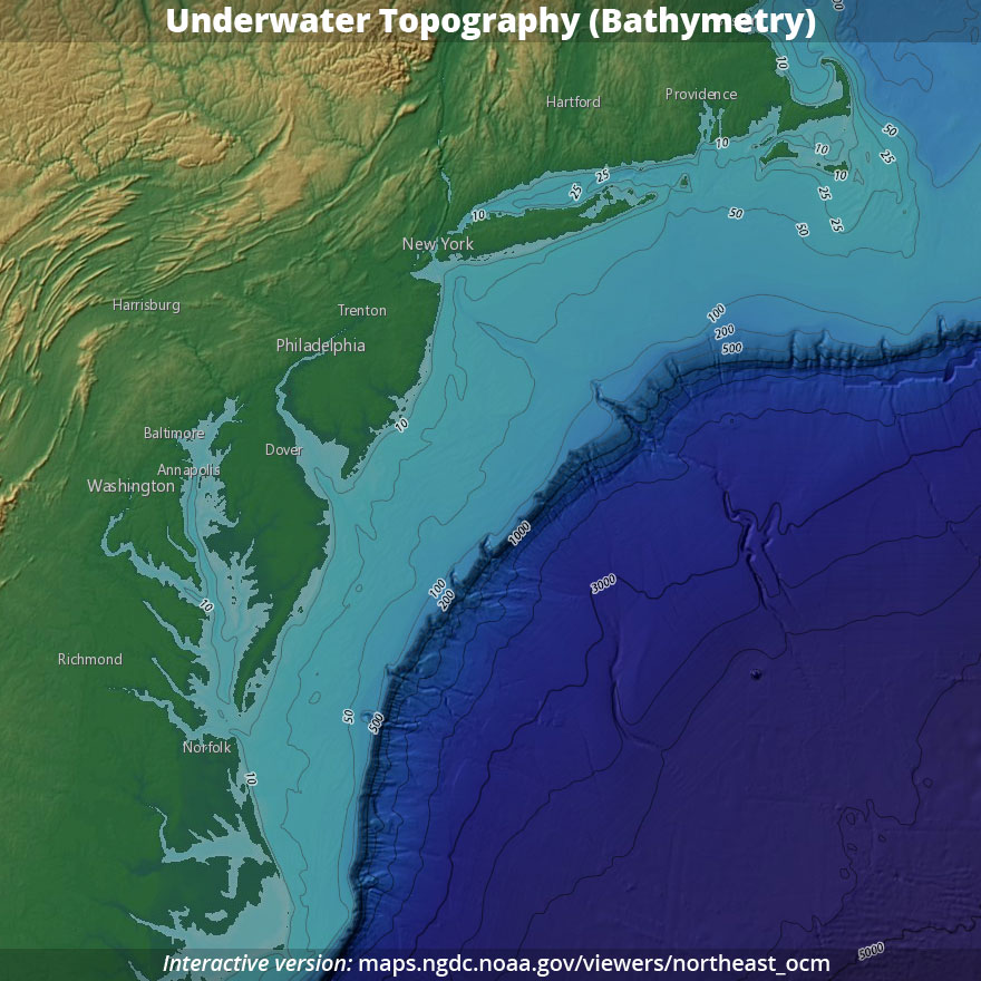 Underwater Topography (Bathymetry)
