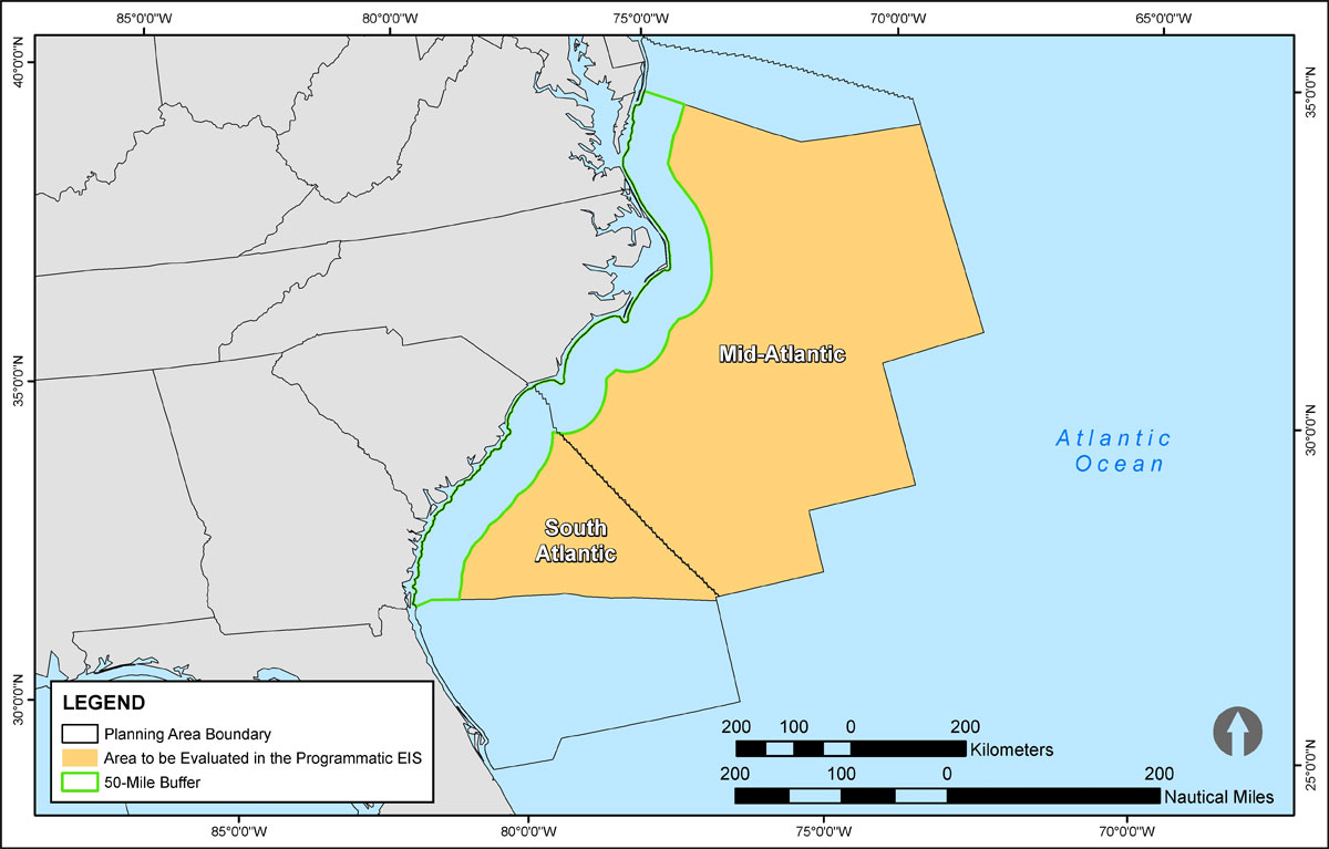 Planning Areas identified for possible inclusion in the 2017-2022 Outer Continental Shelf Oil and Gas Leasing Program (Source: BOEM)