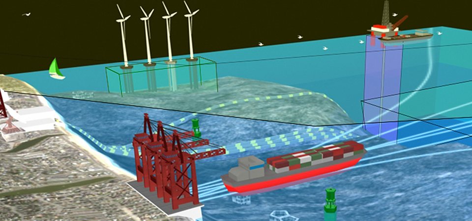 3D illustration of multiple ocean uses (Credit: NOAA)