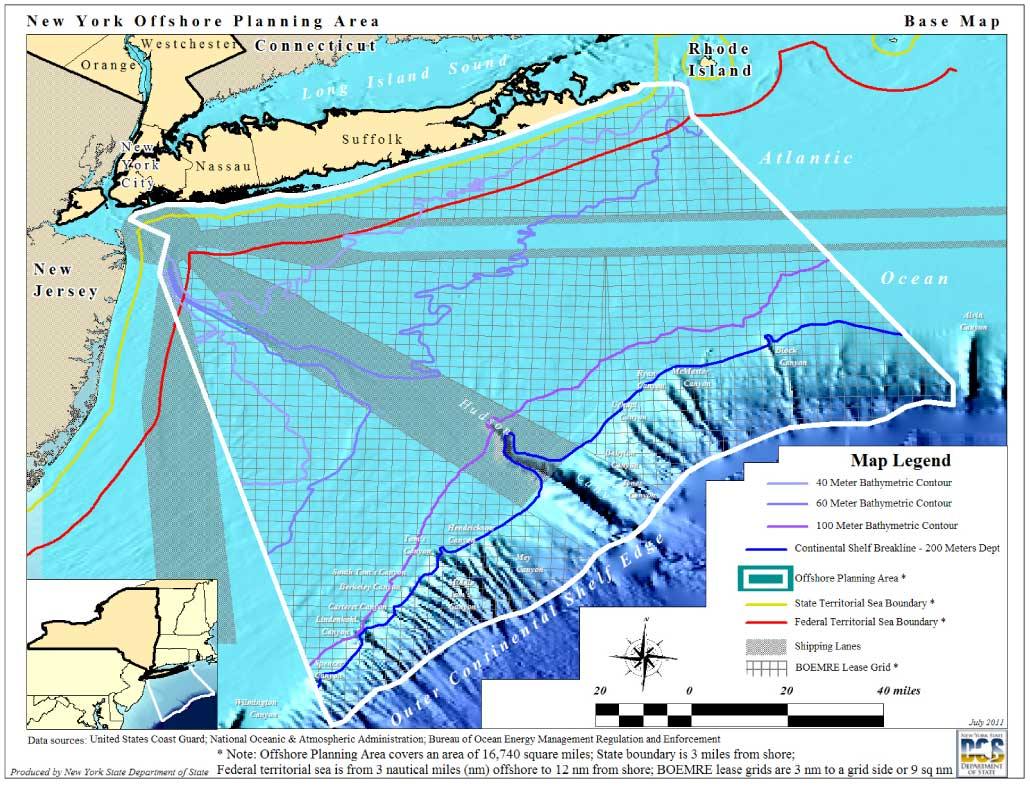 Map of the New York Bight biogeographic study area