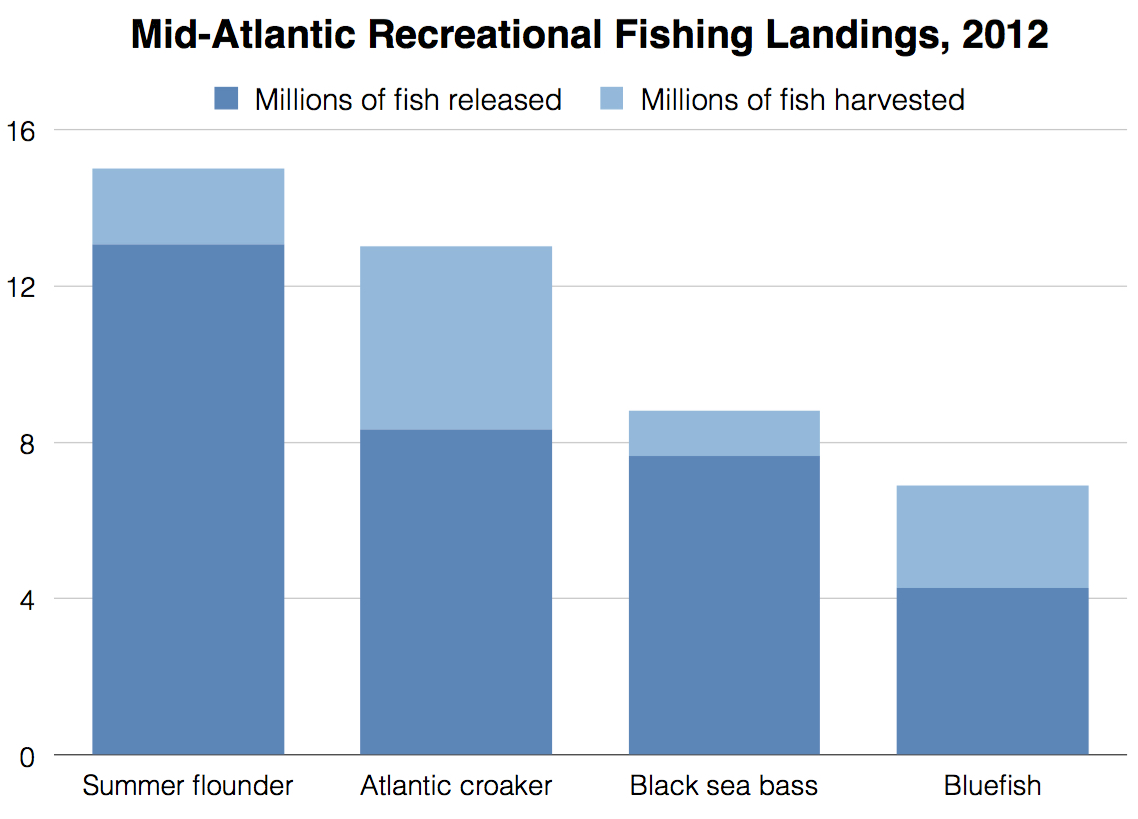 Mid-Atlantic Recreational Fishing Landings, 2012