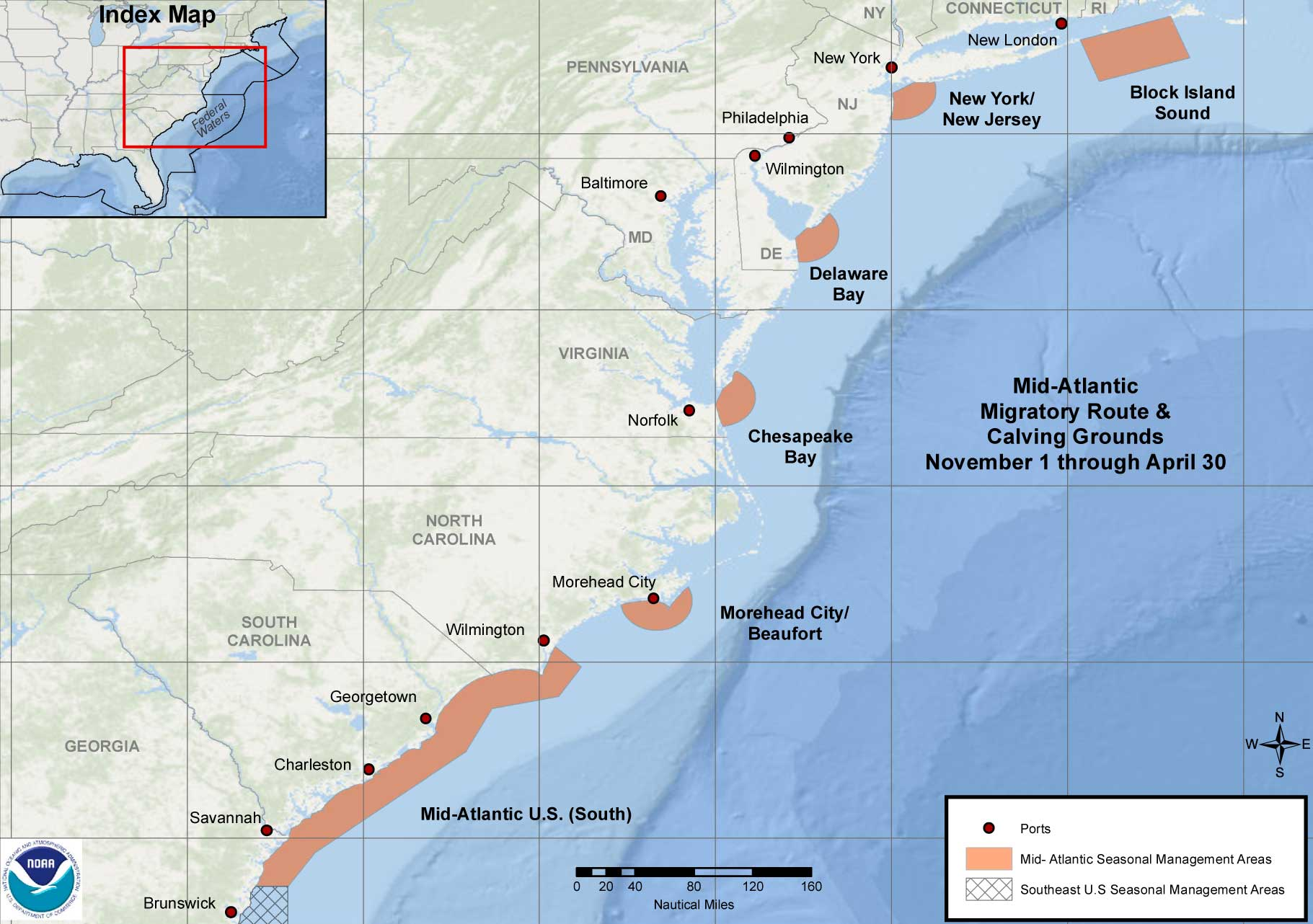 Mid- Atlantic Seasonal Management Areas to Protect North Atlantic Right Whales
