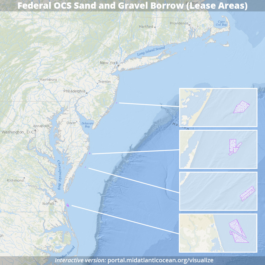 Federal OCS sand and gravel borrow (lease areas)